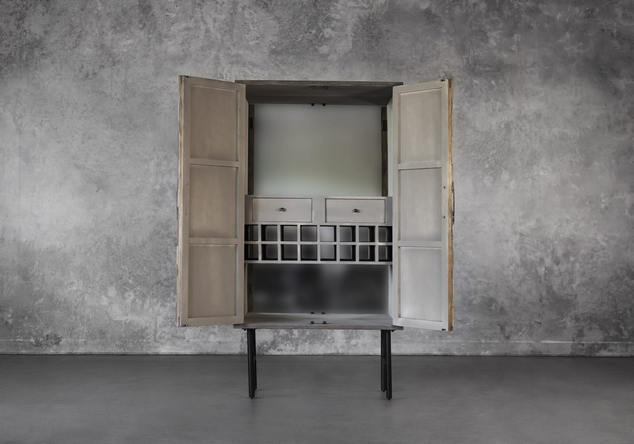 Orla Wine Cabinet, Front, Open