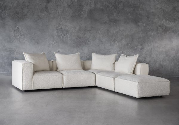 Shauna Sectional in Natural, Angle