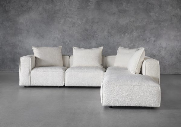 Shauna Sectional in Natural, Front