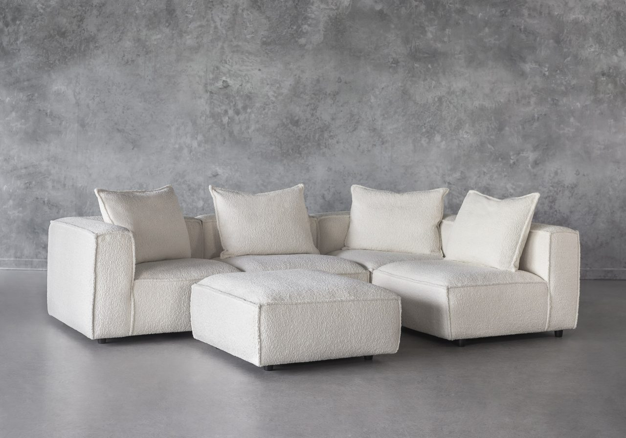 Shauna Sectional in Natural, Ottoman, Angle