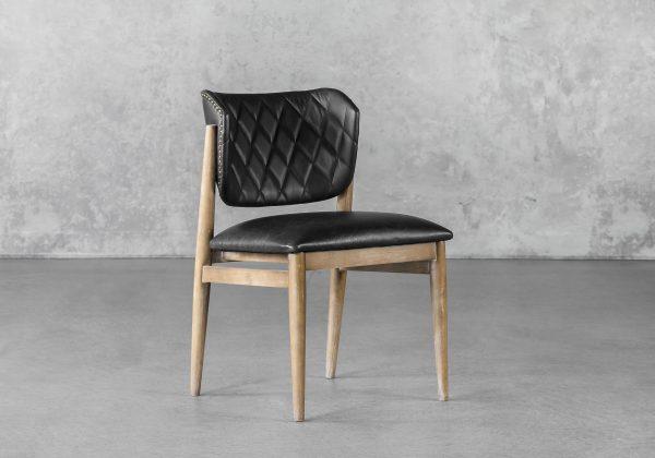Rowa Dining Chair in Black, Angle