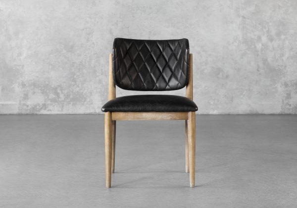 Rowa Dining Chair in Black, Front