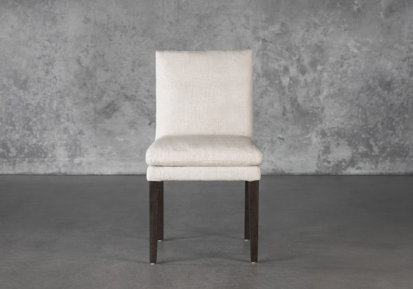 Derek Dining Chair in Linen, Front