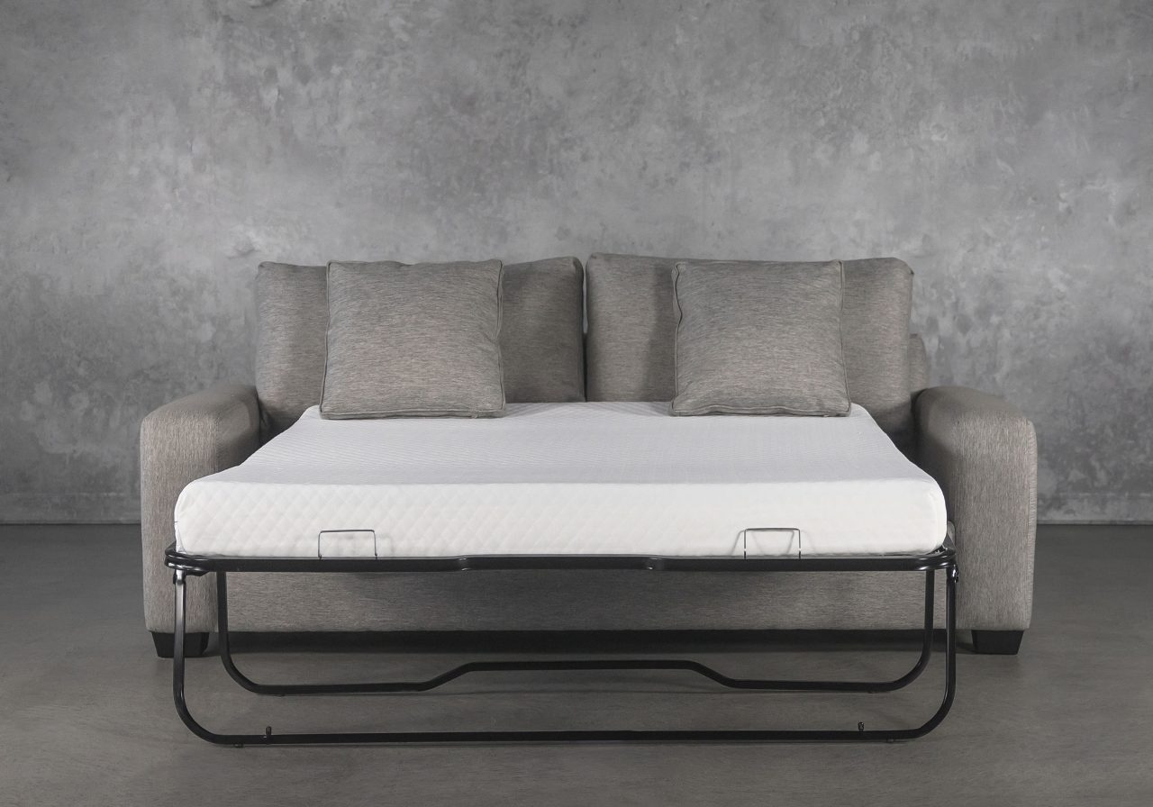 York SofaBed in Shell, Bed Open, Front